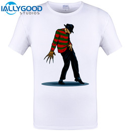 Wholesale Mens Tee Shirts Funny - FREDDY CAN DANCE Michael Jackson Funny Design Mens T Shirt Short Sleeve Tops O-neck Tee Men Cool Hipster Tops Tee Shirts 6XL
