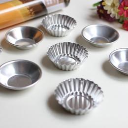 Wholesale Alloy Cake Baking - Mini Aluminum Alloy Cake Baking Pastry Mould Chrysanthemum Round Shape Design Pudding Mold Egg Tart Moulds Hot Sale 0 52hd R