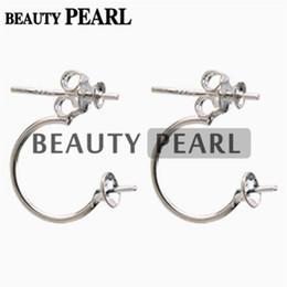 Wholesale 10 paires de bijoux en gros en argent sterling Résultats de boucles d oreille avant et arrière deux boucles d oreille perle Paramètres