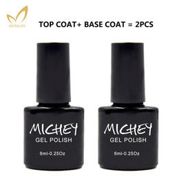 Wholesale Top Coat Clear Nail - Wholesale- MICHEY Eco-friendly Transparent Clear Nail Primer Vernis Semi Permanent Base Gel Top Coat Soak Off Led Lamp Gel