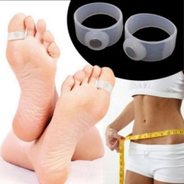Wholesale fat burning - Slimming Tools Silicone Foot Massage Toe Ring Fat Burning For Weight Loss Health Care Easy Portable Body Weight Loss Lose Weight