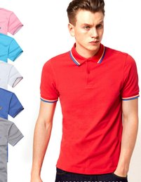 Wholesale Drop Shipping Shirts - hot sale 2017 Summer Hot Sale Polo Shirt Brand Polos Men Short Sleeve Sport Polo Man Coat Drop Free Shipping