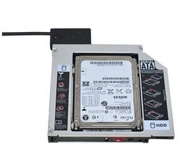 Wholesale Universal Aluminum nd HDD Caddy mm SATA DVD HDD Adapter for mm SSD HDD Case Enclosure CD ROM Optibay