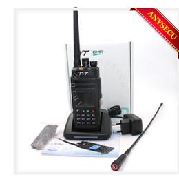 Wholesale Digital Walkie Talkies - New Model TYT MD398 MD-398 Waterproof DMR Digital Handheld Two way radio walkie talkie IP67 10W 400-470MHZ Mototrbo Tier I&II