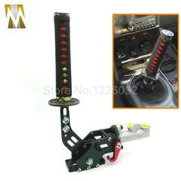 Wholesale Drifting Hydraulic Handbrake - 1 set 215mm Brand New JDM Drifting Hydraulic Handbrake Samurai Sword Handle Red +Black