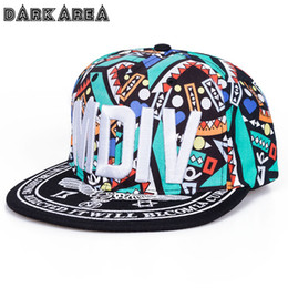 hip hop for kids Promo Codes - Wholesale- [Darkarea]2017Fastion Caps Kids Graffiti Letters Cap For Boy Girl Snapback Cap Children Hip hop Baseball Cap Baby Casual Sun Hat