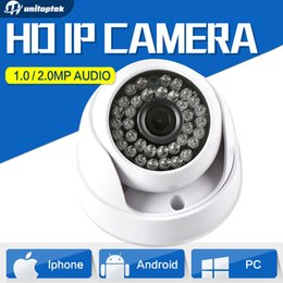 Wholesale Ir Dome Camera Audio - 720P 1080P Dome HD CMOS 1MP 2MP IP Camera Audio Security CCTV Camera Optional IR 20m 3.6mm Lens IR-Cut Indoor Use Onvif