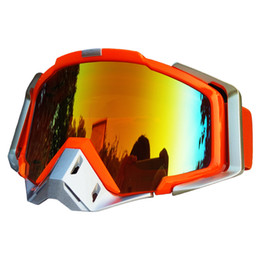 Wholesale Women Snowboard Helmet - Motorcycle Goggles Orange 100% Model Motocross Glasses Motorbike Snowboard Ski Goggles Eyewear Sport Driving Off-road Helmet Goggles