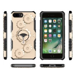 Wholesale Metal Gear Cases - Outdoor Sport Case Hybrid Gear Multifunctional Cases Metal Rotatable Kickstand Cover For iPhone X 8 7 6 6S Plus 5 5S SE Sumsung S7 S8 Note 8