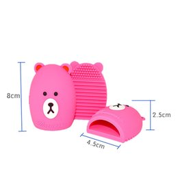 Wholesale Bears Board - Colorful Heart and Bear Shape Clean Make Up Brushes Wash Brush Silica Glove Scrubber Board Cosmetic Cleaning Tools for Makeup Brushes