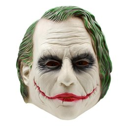 Wholesale Adult Joker Costumes - Joker Mask Batman Clown Costume Cosplay Movie Adult Party Masquerade Rubber Latex Masks for Halloween