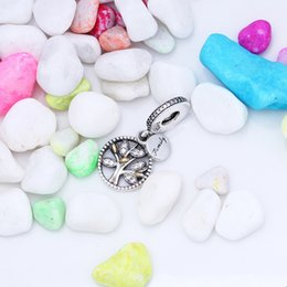 Wholesale Sterling Silver Hang Charms - Authentic 925 Sterling Silver Family Heritage Hanging Charm Fit Original Charm Bracelet Jewelry Gift For Lover