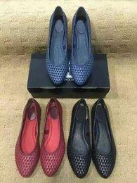 Wholesale Plaited Leather - Letu146 Fashion Outdoor Slip-on Loafers Plait Knit Genuine Leather Ballet Flats shoes Sz 35-41