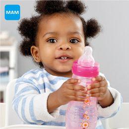 Wholesale Baby Feeding Bottle Nursing - Wholesale-MAM Baby Bottle 330ml Milk Bottle child Feeding kids cup child nurse bottle PP Material Free Shipping