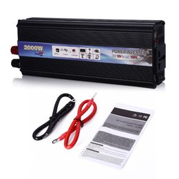 Wholesale Ac Dc Power Inverters - Car Inverters 2000W DC 12V to AC 220V Car Vehicle USB Power Inverter Adapter Converter Power Supply Switch On-board Charger