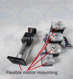 Wholesale Cnc Nema 23 Motors - Wholesale- High Precision SGX Ballscrew 1204 100mm Travel Linear Guide + 57 Nema 23 Stepper Motor CNC Stage Linear Motion Moulde Linear