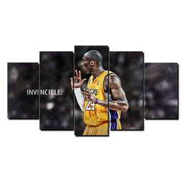 Wholesale Paintings Basketball - Kobe Bryant Basketball Star,5 Pieces Home Decor HD Printed Modern Art Painting on Canvas (Unframed Framed)