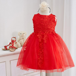 Wholesale Chinese Clothing For Children - Little Girls' Dress Flower Girl Dresses Princess Style For Baby Girl Spring and Autumn Clothe Lovely Children Clothing