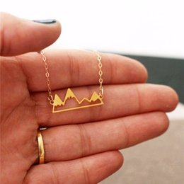 New fashion hot sale mountain necklace jewelry wholesale. Personality rolling hollow peaks outdoor necklace.Gift for friends Coupon