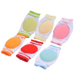 Wholesale Knee Walking Babies - Wholesale- 1Pair Boys Girls Crawling Cozy Cotton Breathable Sponge Children Knee Pads Baby Learn To Walk Best Protection Round Kneepad