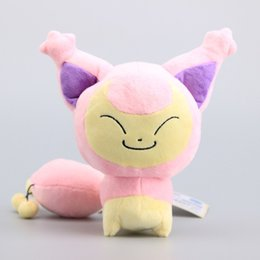 "Wholesale Baby Stuffs - Poke doll Pikachu Skitty Plush Doll Stuffed Toy Animals For Baby Best Gifts (3pcs Lot   Size: 7"" 18CM)"
