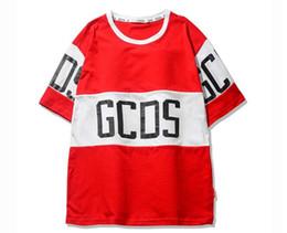 Wholesale Tshirts Panel - GCDS Patchwork Men T shirts O-neck Oversized Brand Kanye West Streetwear Tee Shirts Men Women GCDS Tshirts Men