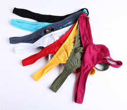 Wholesale Gay Sexy Mens - New Sexy Gay Underwear Sexy Men thongs Fashion Hot Sheer Mens Mesh G Strings Gay Underpants free shipping