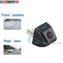 Wholesale Auto Reverse Rear View Camera - KOORINWOO Wholesale Mini Car front Camera Auto rear view cam Waterproof Reverse Parking Camera Parking System High quality safe Assist