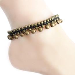 Wholesale Boho Vintage Bracelet - Vintage Boho Bracelet Foot Jewelry Pulseras Retro Jingle Bell Anklet Women Girl Ankle Leg Chain Charm Bracelet Fashion Jewelry