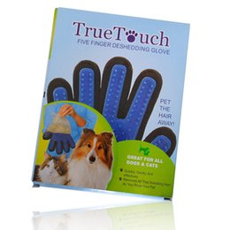 Wholesale Hot Dogs For Wholesale - HOT SALE Deshedding Pet Glove True Touch For Gentle And Efficient Grooming Removal Glove Bath Dog Cat Brush Comb