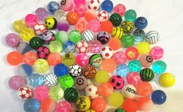 Wholesale Bounce Big - free shipping 27mm mixed bouncing ball rubber bounce ball toys gift Funny Toys