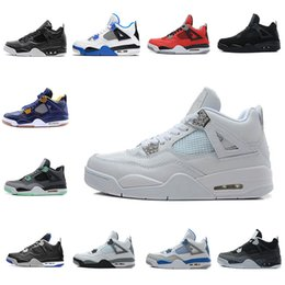 Wholesale Horse Cuts - 2017 high quality Air Retro 4 Pure money man basketball shoes Fire red Green Glow Oreo Dark Horse man sneakers eur 41-47