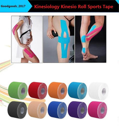 Wholesale Elastic Bandage Tape - NEW Sports Tape Kinesiology Kinesio Roll Cotton Elastic Adhesive Muscle 5cm x 5m Bandage Physio Strain Injury Support M410