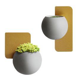 Wholesale Loft Large - KGTECH Modern Plant Wall Hanging Pottery Flowerpot For Loft Pots Walls Art Home Decorations 2 Sizes