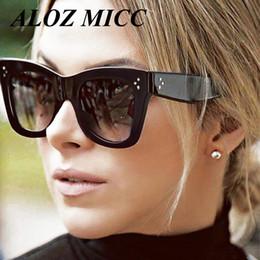 ALOZ MICC Marca Mulheres Rebite Do Vintage Óculos De Sol Da Marca de Design Quadrado  de Luxo óculos de Sol Dos Homens Big Quadro Shades Eyewear Oculos UV400 ... a3b681c9de