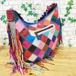 Wholesale real leather satchel handbags - new arrival Women Causal Bags Real Leather Ladies Handbag Large Tassel Shoulder Bags femme Tote Satchel