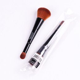Wholesale Up Ends - BROWN Cosmetics FULL COVERAGE FACE & TOUCH UP Brush Double-ended Beauty Cosmetics Makeup Brushes Blender