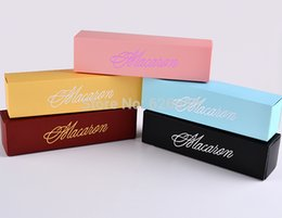 Wholesale Macarons Baking - 6 Count grid Macarons boxes,Muffin box Cake box chocolate baking packaging gift box