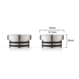 Wholesale E Cigarette Tank Adapter - TFV8 510 Adapter for SMOK TFV8 Tank Connecter Adaptor E Cigarette Stainless Steel 510 TFV8 Drip Tips Adapter