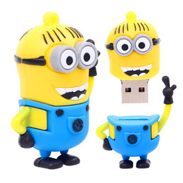 Wholesale Memory Stick Flash 4g 8g - Exquisite hands up small yellow USB flash drive 8G 16G 32G 64G 4G pen drive, despicable my cartoon creative U disk memory stick