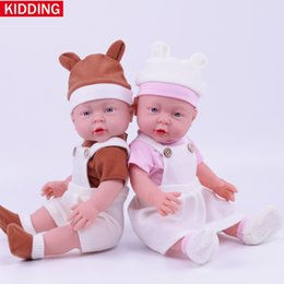 Wholesale Newborn Clothes China - 41cm strap dress silicone baby dolls 16inch cotton clothes newborn gift toys for kids