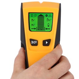 Wholesale deep metal detector - Stud Center Finder Metal and AC Live Wire Detector 3 in 1 Wall Scanner Electric Box Finder Wall Detector Deep Scan Studs 2017 New Arrival