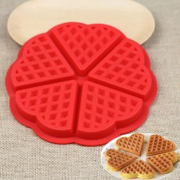 Wholesale family cakes - Wholesale- Family Silicone Waffle Mold Maker Pan Microwave Baking Cookie Cake Muffin Bakeware Cooking Tools Kitchen Accessories Supplies
