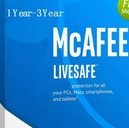 Wholesale Ios Security - NEW McAfee LiveSafe Antivirus internet security PC Mac Android iOS 1 Year 2Years 3Years Unlimited Devices