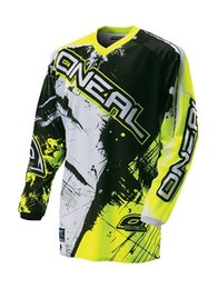 Wholesale Shirt Mountain - Hot sell! NEW for ONEAL Downhill Jersey MX MTB Off Road Mountain Bike DH Bicycle Cycling Jersey DH BMX motocross jersey 8 Colour