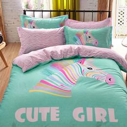 Wholesale Zebra Bedding Twin - Wholesale-3D Bedding Sets Queen size,Duvet Cover Set Bed Sheet,Reactive Print Bedding,Colorful zebra Bed Linens set,bedclothes #HC48