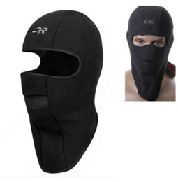 Skihuthelm online-Thermal Fleece Balaclava Hut Haube Ski Bike Wind Stopper Gesichtsmaske New Caps Nackenwärmer Winter Fleece Motorrad Hals Helm Cap