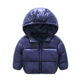 Wholesale Yellow Down Jacket Kids - 2017 New kids Winter Warm Coat Baby Boys Girls Outerwear & Coats Fashion White Duck Down children Jacket Coat for Boys clothing