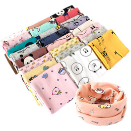 Wholesale Baby Bear Scarves - 2017 new arrival Baby cotton neck warmers cartoon animals print baby ring scarf fish lion panda giraffe bear cute neckerchief for 2-7T