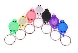 Wholesale Christmas Car Accessories - 800pcs Purple UV LED Keychain Money Detector led light protable light Keychains Car key accessories D946